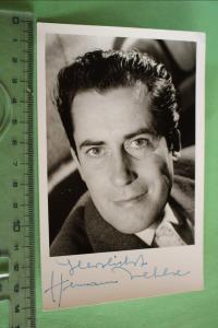 Tolle alte Karte - Schauspieler ??  Hermann Wehlse ??? mit Unterschrift