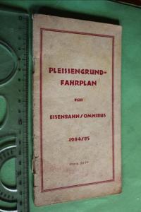 Toller alter Fahrplan - Pleissengrund - Eisenbahn/Omnibus 1984/85