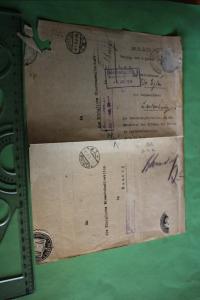 Interessanter alter Brief an die Königliche Eisenbahndirektion in Danzig 1918