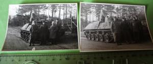 Zwei tolle alte Fotos - Schützenpanzer (lang) HS 30 ??? mit Soldaten