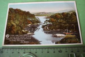 Tolle alte Karte aus Irland - irischer Fluß - 1937