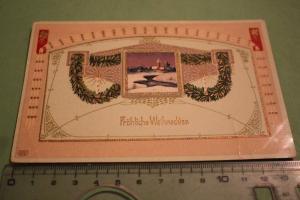 Tolle alte Karte - Grußkarte - Frohe Weihnachten - 1910-20 ???