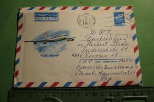 Toller alte Briefumschlag mit Flugzeug Aeroflot IL86 als Motiv