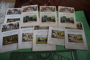 Neun Palmin-Post Sammelkarten mit je drei Sammelbildern 30-40er Jahre ???