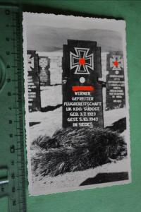 Altes interessantes Foto - Grab eines Soldaten - Lw.Kdo. Südost  - selten ?