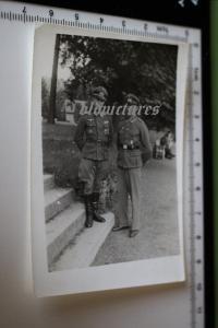 Tolles altes Foto - zwei Soldaten DKiG Träger - Lazarett Bad Driburg 1944