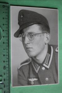 Tolles altes Foto - Portrait eines Soldaten mit Feldmütze - 1944/55