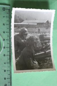 Interessantes altes Foto - Ausbildung am Raketengeschütz