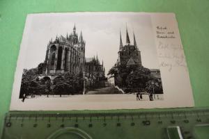 Tolle alte Karte - Erfurt - Dom und Severiekirche - 1935