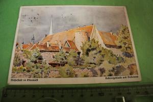 Tolle alte Karte - Michelstadt Odenwald - Kellereigebäude und Diebsturm - 1933