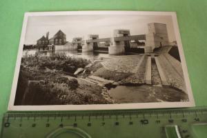Tolle alte Karte - Weserwehr Dörverden a.d. Weser 1936