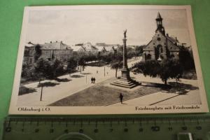 Tolle alte Karte - Oldenburg i.O.  - Friedensplatz mit Friedenssäule