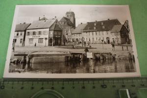 Tolle alte Karte - Wolgast - Gebäude -  1954