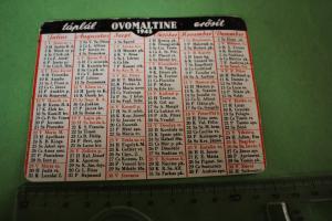Toller alter Handkalender von Ovomaltine - 1945 - Schweiz
