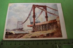 Tolle alte Karte - Franz Gerwin - Reichsautobahnbrücke im Bau - 1941
