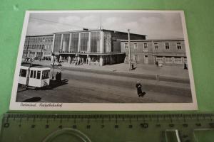 Tolle alte Karte - Dortmund Hauptbahnhof  1954