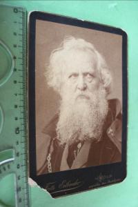 Tolles altes Kabinettfoto eines älteren Mannes mit Bart - Köln - Hauptkonservato