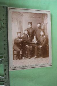 Tolles altes Kabinettfoto - Soldaten 1891 Reserve-Übung in Mainz