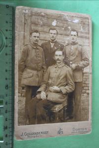 Tolles altes Kabinettfoto -  vier Soldaten - Dorfen -  Bayern