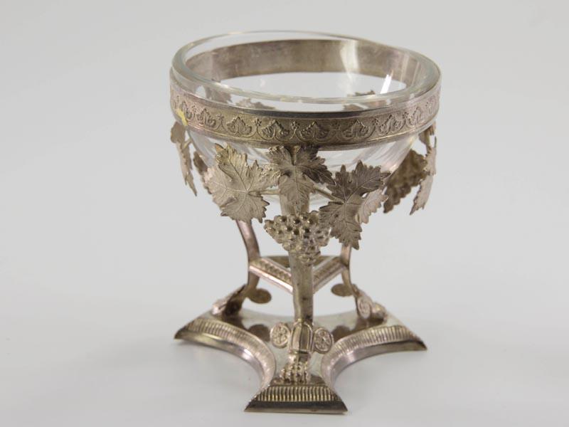 Salzschale, Biedermeier, Silber, um 1820, deutsch