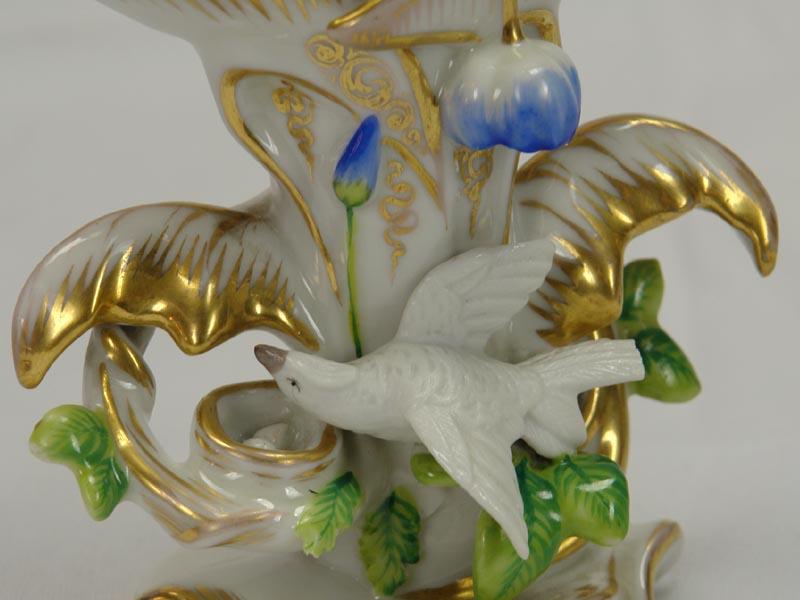 Paar Vasen, 2. Hälfte 19. Jh., ungemarkt, wohl Böhmen, ziervergoldet, bestoßen. H: 13,5 cm 4
