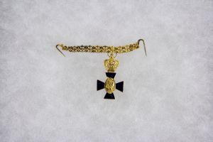 Ordensminiatur, Bayern, um 1870-80, Miniatur zum St. Michael Orden, Ritter 1. Klasse, Gold am Kettchen, feinste Qualität. H: 27 mm