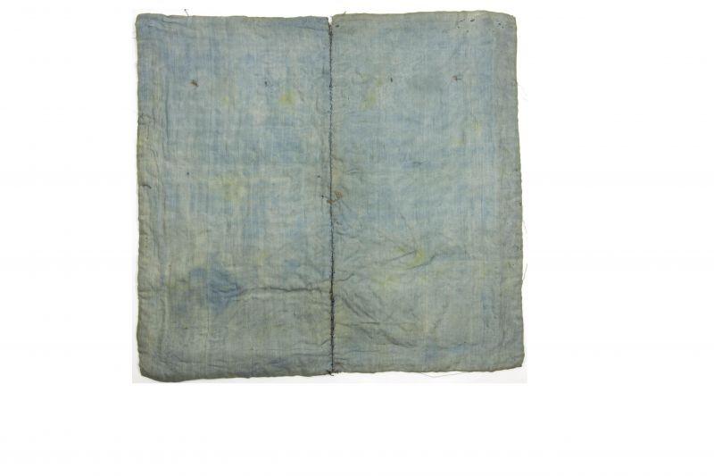 2 Buzi, China, um 1900, Gangxu Periode, Gold- und Silberfäden Stickerei, Gebrauchsspuren 3