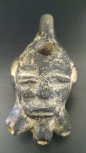 Antike Öllampe aus Ton. Spät römisches Imperium um 200 - 300 AD