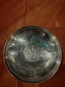 Silberne Münzteller drei Mark 1913 silber 800