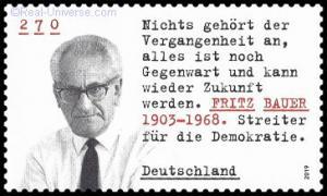 BRD - MiNr.: 3502 - Fritz Bauer - nassklebend - Postfrisch
