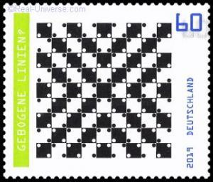 BRD - MINR.: 3496 - Gebogene Linien? - nassklebend - Postfrisch