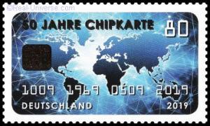BRD - MiNr.: 3494 - 50 Jahre Chipkarte - nassklebend - Postfrisch