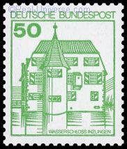 BRD - MiNr.: 1038 - Burgen und Schlösser - Wasserschloss Inzlingen - nassklebend - gestempelt