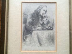 18th Jahrhundert, Voisenon bei Le Patissier de Cauterets - Radierung