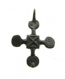 Mittelalter Wikinger Bronze Kreuz Anhänger - 29x20 mm,  10. – 12. Jahrhundert n. Chr. - nordeuropäisch