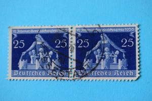 Mi 620 25 Pf 1936 gestempelt Paar