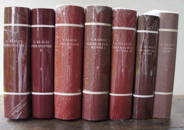 Klages, Ludwig: Ernst Frauchiger (Hrsg.): Ludwig Klages. Sämtliche Werke. 8 Bände und Register