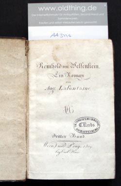 Lafontaine, August: Reinhold von Welfenstein.