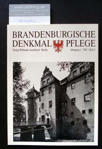 Brandenburgische Denkmalpflege. Jahrgang 1, Heft 2 / 1992.