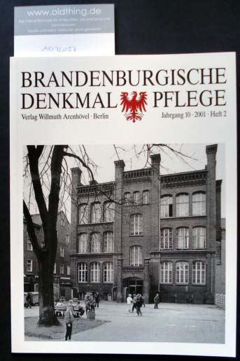 Brandenburgische Denkmalpflege. Jahrgang 10, Heft 2 / 2001.