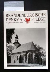 Brandenburgische Denkmalpflege. Jahrgang 7, Heft 1 / 1998.