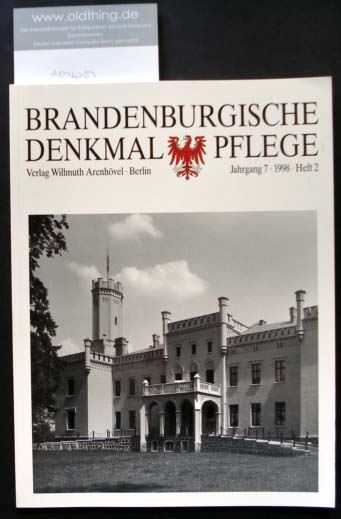Brandenburgische Denkmalpflege. Jahrgang 7, Heft 2 / 1998. 0