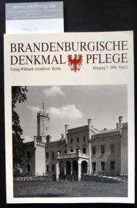 Brandenburgische Denkmalpflege. Jahrgang 7, Heft 2 / 1998.