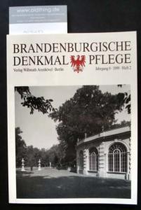 Brandenburgische Denkmalpflege. Jahrgang 8, Heft 2 / 1999.