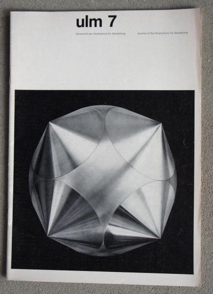 Ulm 7. Zeitschrift der Hochschule für Gestaltung. Journal of the Hochschule für Gestaltung