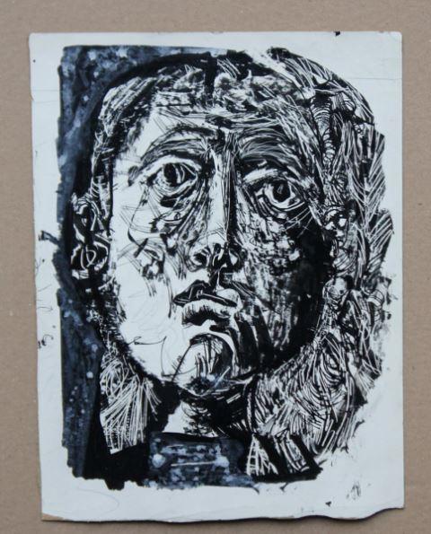 Drei Original Tuschzeichnungen von Antoni Clavé, welche als Vorlagen für den Umschlag der zweiten Nummer der von Rainer M. Gerhardt herausgegebenen Zeitschrift Fragmente verwendet wurde.