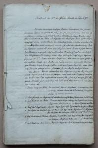 Freimaurer: Gründungsprotokoll (Urkunde) der Loge Gustav Adolf zu den drei Strahlen in Stralsund