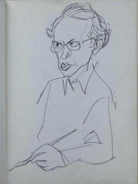 Zwei Skizzenbücher von Herbert Sandberg mit über 400 original Bleistiftskizzen 1