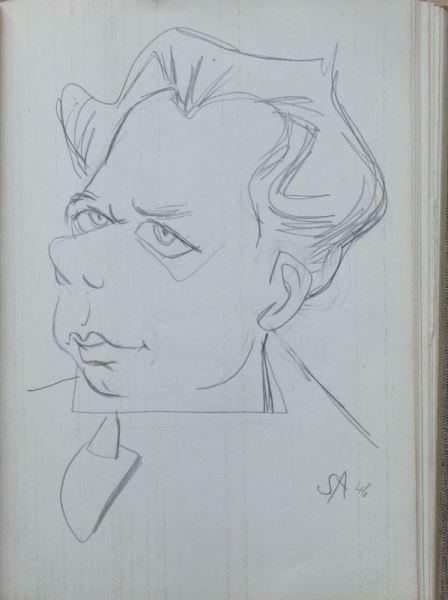 Zwei Skizzenbücher von Herbert Sandberg mit über 400 original Bleistiftskizzen 2