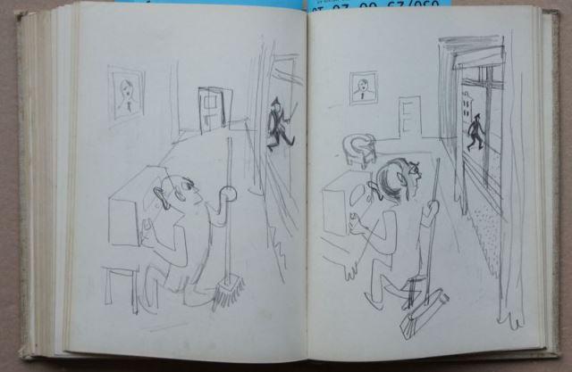 Zwei Skizzenbücher von Herbert Sandberg mit über 400 original Bleistiftskizzen 5